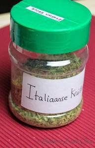 Zelfgemaakte Italiaanse kruidenmix