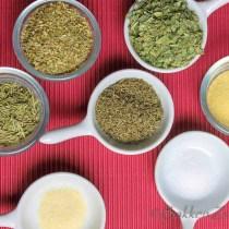 Ingrediënten voor Zelfgemaakte Italiaanse kruidenmix