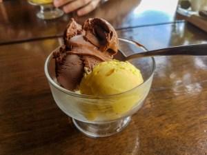 Sorbet chocolat-mangue chez Sibu