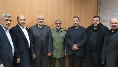صورة قائد فيلق القدس یعقد لقاء مع فصائل المقاومة في طهران