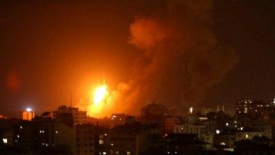 صورة طائرات الاحتلال تشن عدة غارات على خان يونس