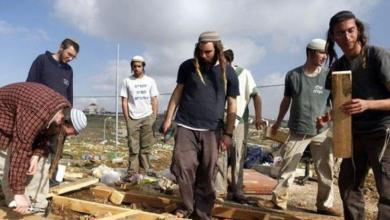 صورة إصابات بهجوم ارهابي لمستوطنون على مربي أغنام في المغير