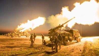 صورة قصف مدفعي يستهدف نقاط الضبط الميداني شرق دير البلح