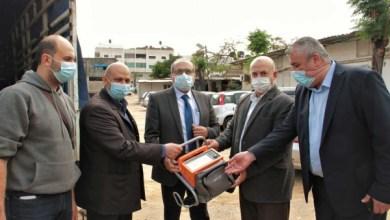 صورة أبو وردة: الصحة بغزة استملت 22 جهاز تنفس اصطناعي و50 اسطوانة أكسجين