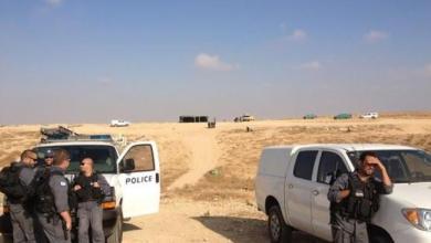 صورة شرطة الاحتلال تقتحم خيمة الاعتصام بقرية سعوة بالنقب