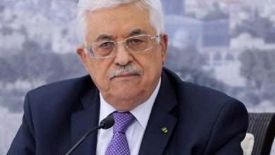 صورة الرئيس عباس يهاتف والد الأسير المضرب الغضنفر أبو عطوان