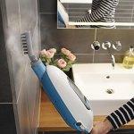 Balai vapeur avec nettoyeur à main – 5 en 1 – 1300 W – Capacité du réservoir : 380 ml – 99,9% des bactéries tuées – Temps de chauffe : 25 secondes – Multi-surfaces