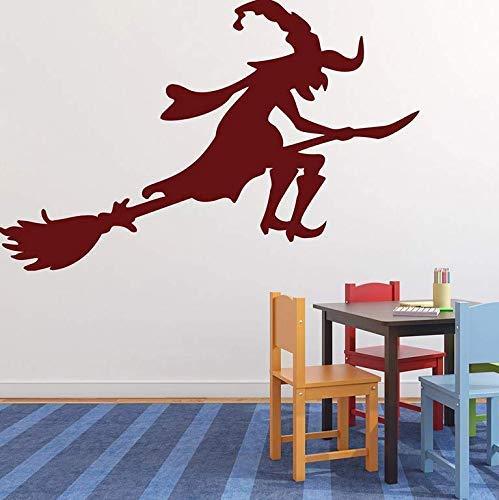 Balai Sabbat Autocollant Mural Vinyle Maison Design D'Intérieur Autocollant En Jardin D'Enfants Décoration Salon 89X57 Cm
