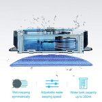 Proscenic Aspirateur Robot 830T, Connecté Wi-Fi et Alexa, Nettoyeur et Laveur 3 en 1, Nettoyage Efficace sur Programmation, Aspiration Puissante Sur Tapis et Sol