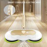 WWDD 2021 Nouveau Brush Electrique Autonomie 60 Minutes,Double Balai Vapeur with LED Headlight and Sprayer,Brosse rotative Nettoyage,Nettoyeur de sols sans Fil Powerful Cleaning