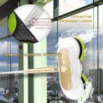 WWDD 2021 Nouveau Double Balai Vapeur 99% des Bactéries Tuées sans Produit Chimique,Rechargeable Balai Vapeur Réservoir,Electric Spin Scrubber Autonomie 60 Minutes