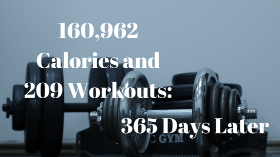 160,962 Calories and 209 Workouts: 365 Days Later