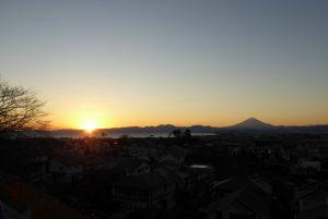 片瀬山からの富士山とサンセット