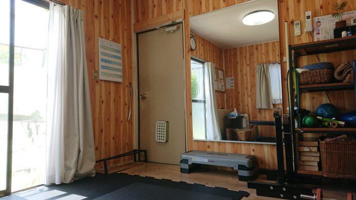 トレーニングは個室