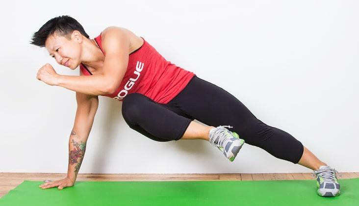 Knee To Opposite Elbow Plank