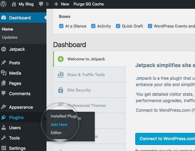 Add new plugin dashboard