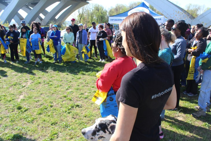 Danielle Griffith and the rest of the Clean-Up volunteers