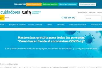 supercuidadores ofrece formación e información contra el coronavirus