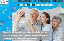 CSA Dental lanza la campaña #CercaDeTiEnConfinamiento para acercar los mayores a sus familiares