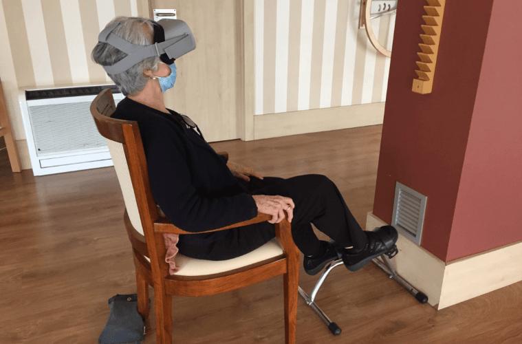 Paseos virtuales en bicicleta para los mayores de las residencias DomusVi