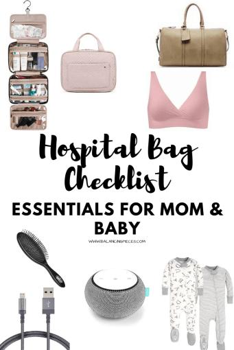 The Essentials Hospital Bag Checklist