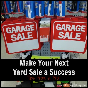 Yard Sale Success!