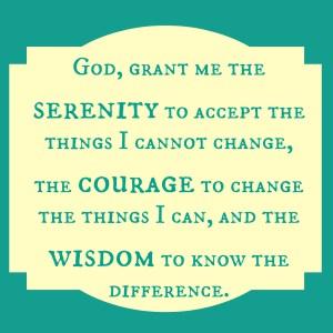 The Serenity Prayer- pin it, print it, share it, use it
