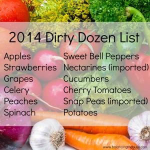 dirty dozen produce list