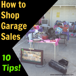 How to Shop Garage Sales- 10 tips