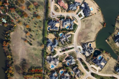 Aerial Mapping Oil and Gas, Industrial and Commercial Swimming pools and fall color