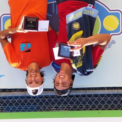 Men's Gold Ball Winner - Manuel Peña López (right), Silver Ball Winner - Hudson Rivera (left)