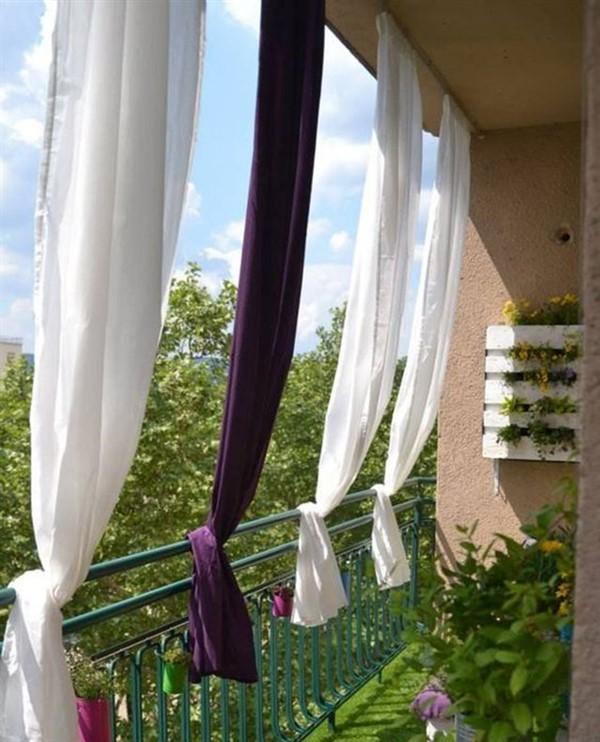 balcony curtain ideas outdoor privacy