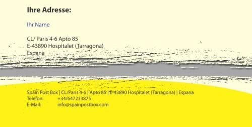 Auslandsadresse im Impressum - Spain Post Box Adresse