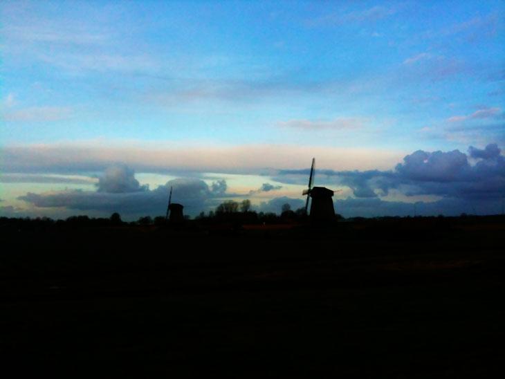 The Netherlands, at dusk and dawn