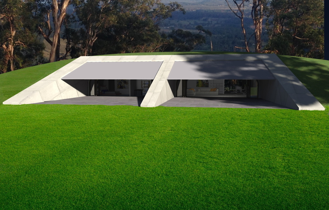 Baldwin OBryan Architects Earth Sheltered House Earth