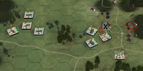 (fig.4) Le forze si dividono. I camion seguono una via esterna al villaggio