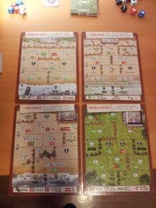 Quattro delle 8 mappe (le altre sono sul retro)