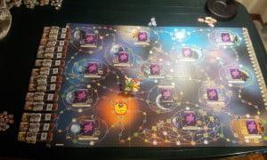 Tabellone all'inizio di una partita al gioco standard