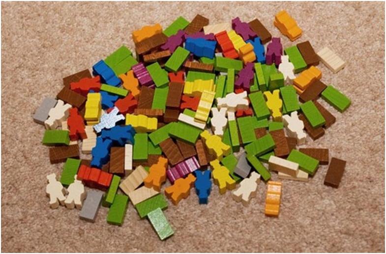 il materiale in legno del gioco
