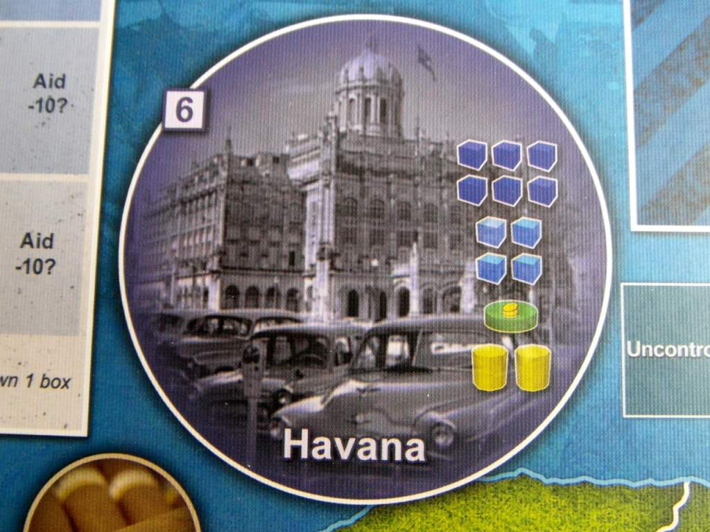 Dettaglio di Havana, di gran lunga il centro più importante.