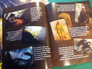 L'art book commentato era uno stretch goal del progetto su Kickstarter.