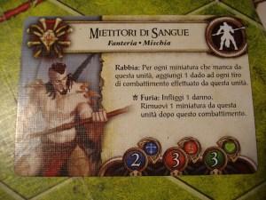 """""""Impegnando"""" un risultato """"Eroismo"""" (la corona) i Mietitori possono subire un danno per infliggere un danno aggiuntivo: un eroico sacrificio!"""