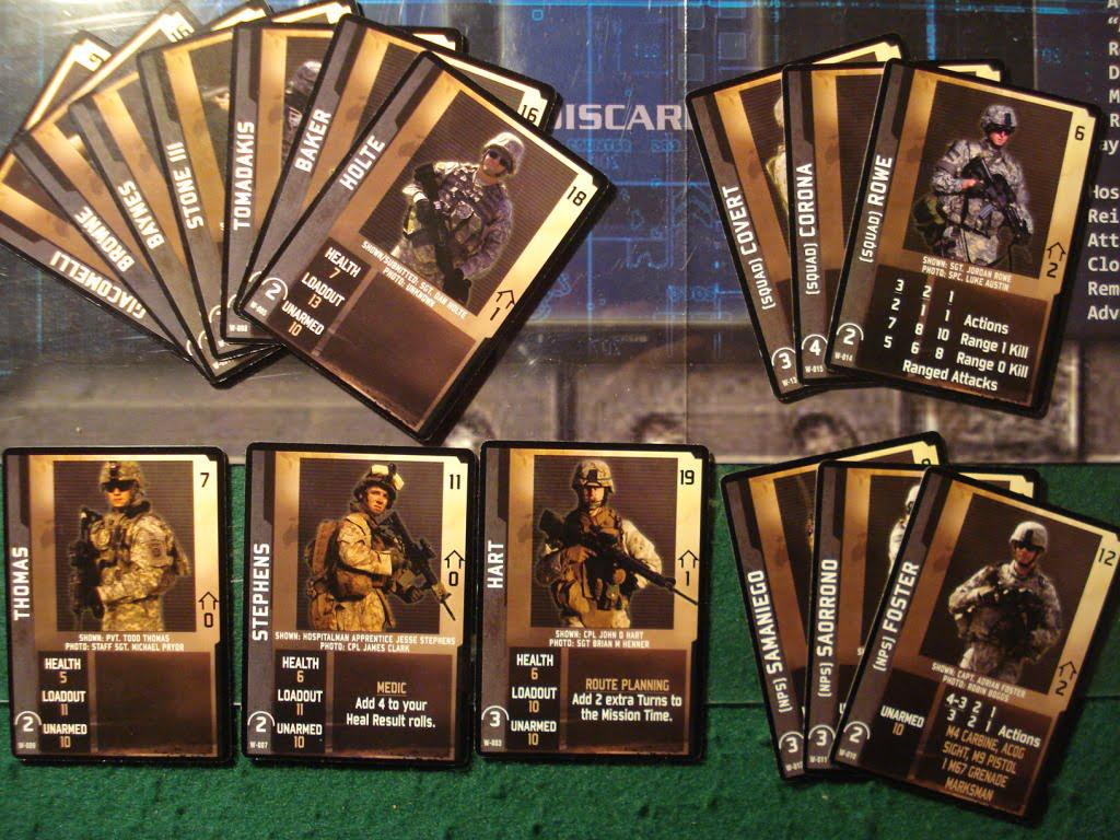 I soldati presenti nella scatola base: 10 player soldiers, 3 squad soldiers e 3 NPS.