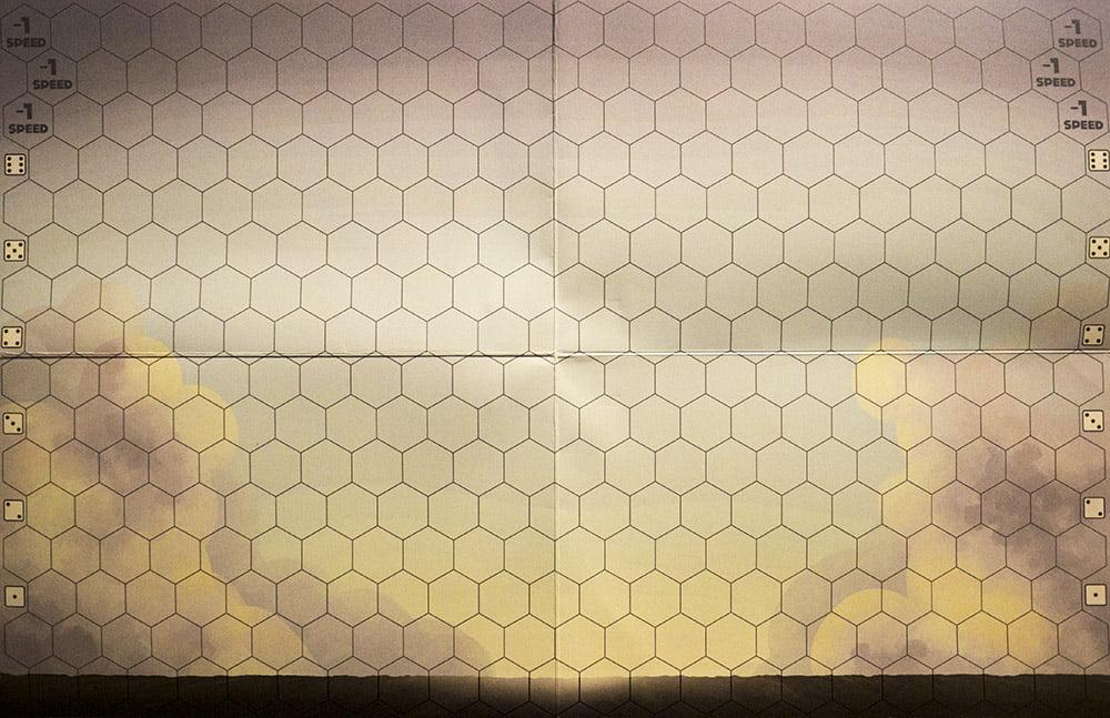 La plancia pieghevole inclusa nella versione polybag del gioco