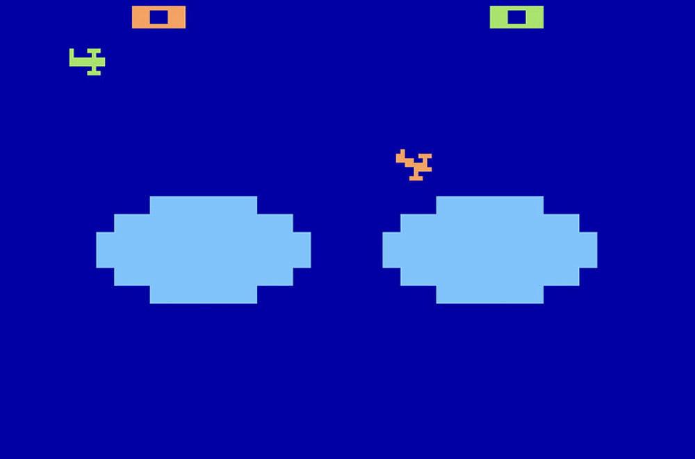 Uno screenshot del videogame Combat della Atari