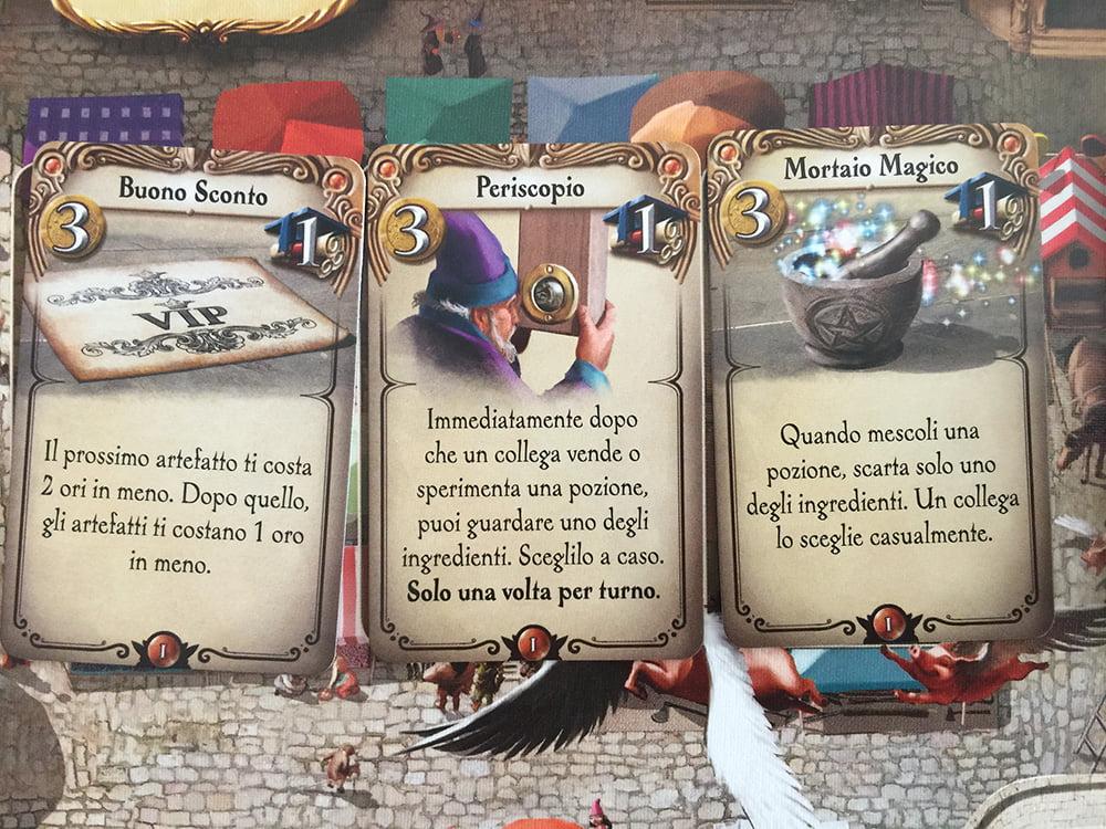 """A inizio partita, è uscito il """"mortaio magico"""": le antenne dei 3 alchimisti si sono immediatamente alzate..."""