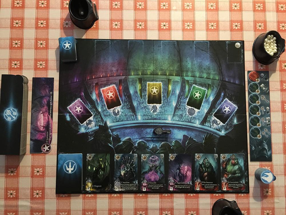 Il set up (in questo caso per 2 giocatori) è stato completato: che la partita abbia inizio!