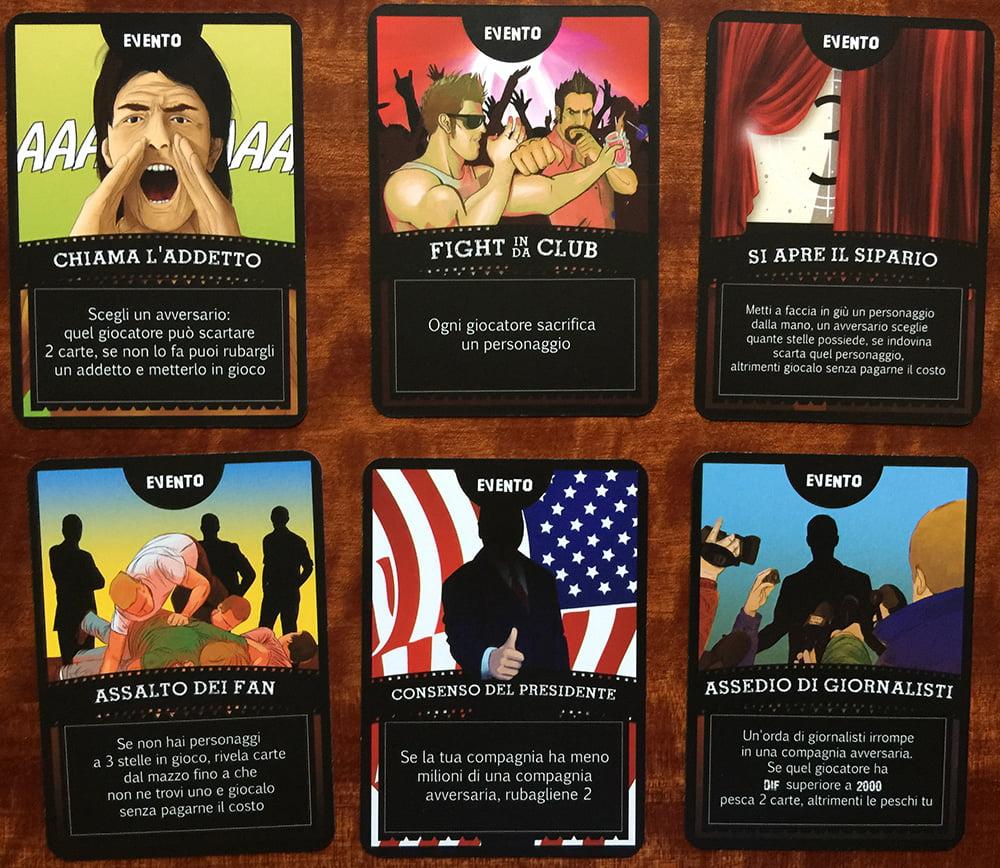 Esempi di carte Evento: