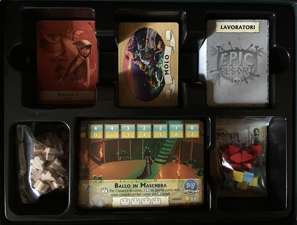 Tutto al suo posto: l'interno della scatola è organizzato in modo davvero esemplare!