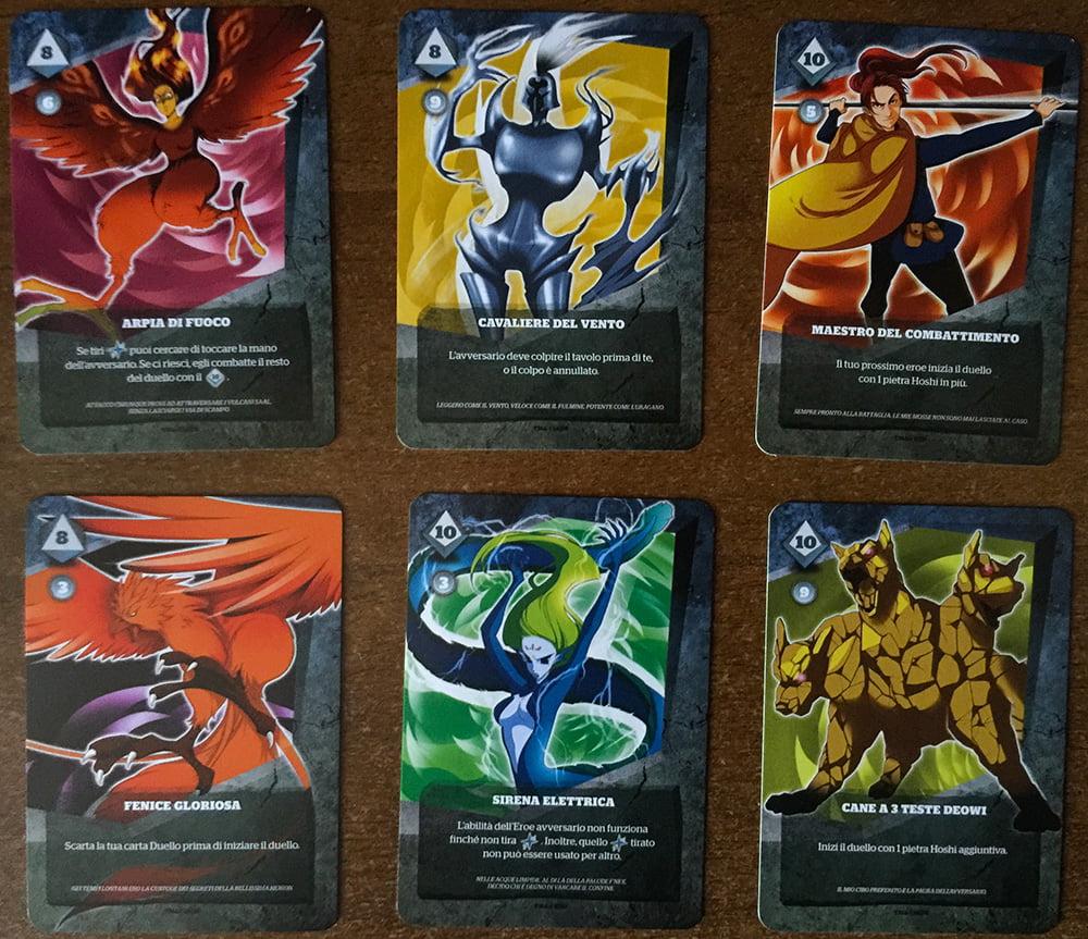 Alcuni degli eroi che è possibile reclutare per la battaglia.